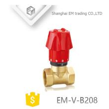 EM-V-B208 Latón Manual de 2 vías de calefacción doble regulador de la válvula del radiador