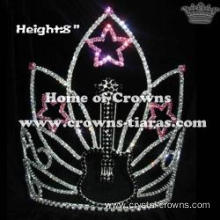8inch Height Crystal Guitar Star Rhinestone Pageant Crowns