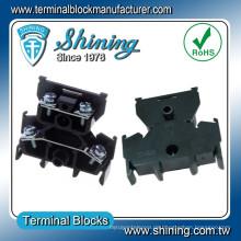 TD-015 600V 15 Ampere Schienenart Lautsprecher Doppel-Deck-Klemmenblock