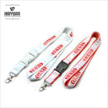 Cordão de poliéster personalizado costurado com fita de cetim