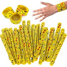 Pulseiras de silicone personalizadas Pulseiras de tapa de emoticon