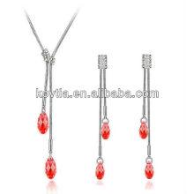 Ensemble de bijoux en diamant blanc design unique design dubai