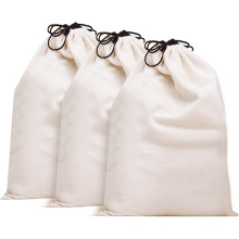 Wholesale Custom printed canvas drawstring dust bag Eco Friendly Food Grade Cotton Drawstring Bag