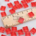Pièces de verre rouge en vrac pour fournitures de mosaïque