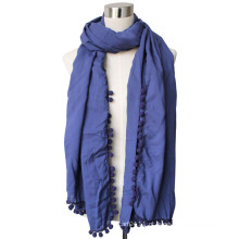 Senhora viscose matta voile lenço de moda (yky4375-3)