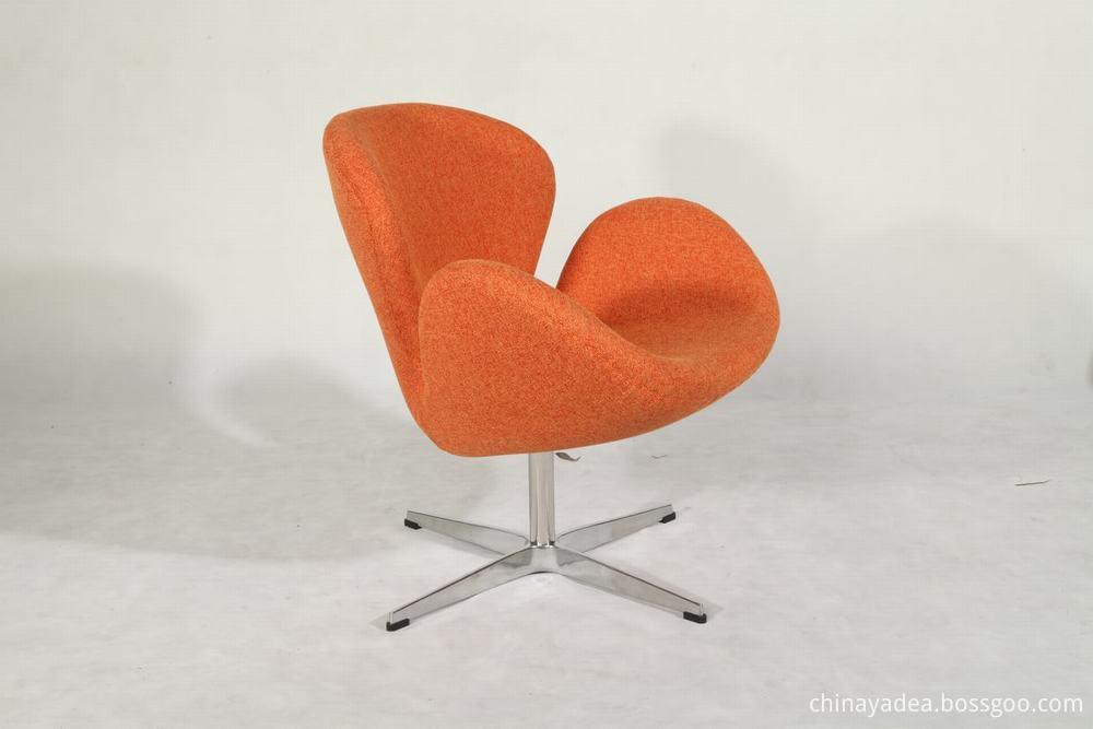 fabric swan chair