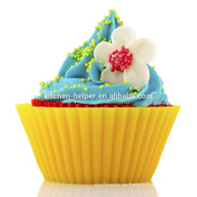 Custom BPA Free Food Grade Inicio DIY Baking Tool Resistente al calor Suave antiadherente Silicona Silicon Baking Cups Muffin Cups