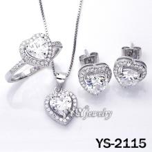 Micro Pave CZ Love joyas con plata de ley 925 (YS-2115)