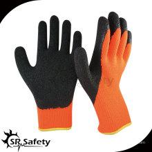 7G Акриловые подгузники Трикотажные латексные пальмовые перчатки с перчатками / Вязаные перчатки с латексным покрытием / Рабочая перчатка