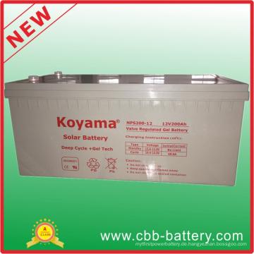 12V 200ah Bleisäure-Solar-tiefe Zyklus-Gel-Batterie für Telekommunikation, Sonnensystem
