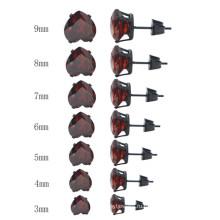 Мода различных размеров сердца формы кристалл серьги стержня ювелирные изделия
