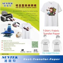 Papel de impresión caliente de la transferencia de calor del color ligero del rasgón para la camiseta