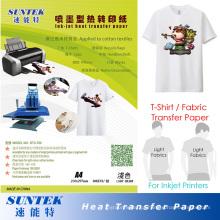 Papel de impressão quente da transferência térmica da cor clara do rasgo para o Tshirt