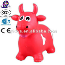 Inflable animal juguete rebotando vaca