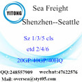 Shenzhen Port Sea Freight Shipping To Seattle