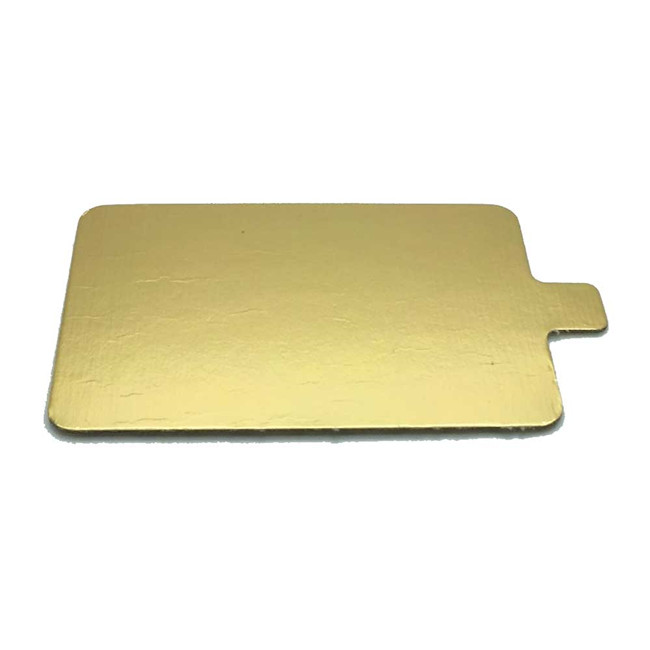 Rectangle gold cake board with tab