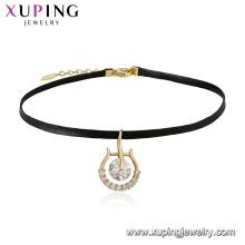 Joyas 44326 Xuping Collar de gargantilla nuevo plateado oro 18K con diseño personalizado de encanto
