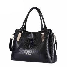 Factory Supply British Style Modern Lady PU Leather Fashion Handbag (ZX10166)