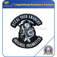 Dye Black Greatful Dead Metal Badge