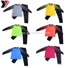 Child Wholesale Cheap Custom Your Logo Blank Long Sleeve Goalkeeper Jersey