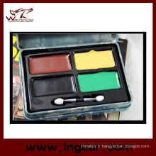 Camouflage militaire tactique Compact de peinture à l'huile avec 4 couleurs