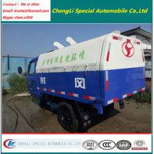 3 pneus 2000liters caminhão de lixo selado motor