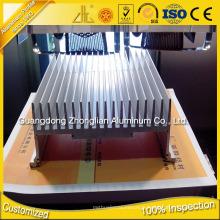 Radiateur en aluminium adapté aux besoins du client d'OIN 9001
