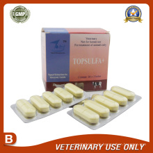 Tierarzneimittel von Sulfadiazin-Bolus