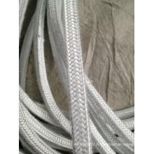 Corde carrée en fibre de verre pour garder au chaud, isoler contre la chaleur, etc.