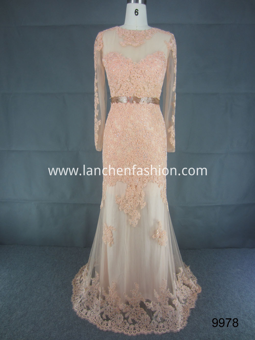 Lace Beaded Celebrity Dress