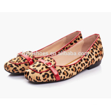 Alta qualidade crina de mulheres flats loafer design moda sapato quadrado toe ballet estilo