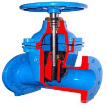 Válvula de porta de ferro dúctil com extensão do eixo Válvula de porta de haste longa pn16 ggg50