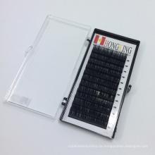 Großer Hersteller Private Label 0,10 14 mm B Curl 12 Zeilen individuelle Wimpernverlängerung