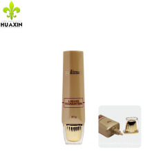30g PE brown tube cosmetics packaging plastic for sunscreen cream