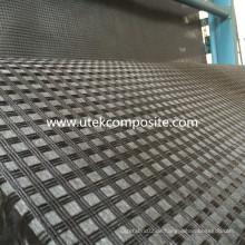 Bitumenbeschichtetes Polyester-Geogitter mit leichtem Vliesstoff