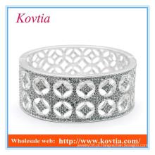 Caro jóias finas de prata de grande porte jamiaca pulseira micro pavimentar cristal