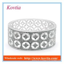 Дорогие ювелирные изделия из чистого серебра jamiaca bangle micro pave crystal
