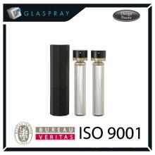 Bouteille de parfum de 20 ml brillant noir et rechargeable