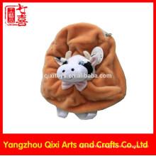 China wholesale custom kids plush backpacks bag plush cow head backpack