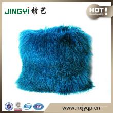 Coussin confortable en tissu de fourrure d'agneau au Tibet