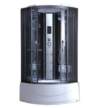 Plateau en acrylique pour cabine de douche en verre trempé noir