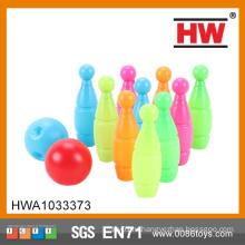 Высокое качество 12CM Дети Пластиковые игрушки Десять Pin Боулинг