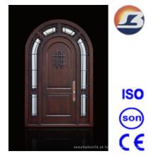 Design especial exterior Meranti porta de madeira maciça