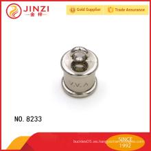 Botones metálicos decorativos para la ropa con las letras grabadas personalizadas