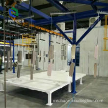 Jualan Hot Rolled Electrostatic Automatic Coating Line untuk Industri