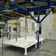 Linha de revestimento eletrostática automática de venda quente do pó para a indústria