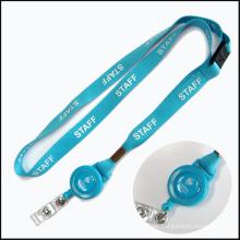 Impresión personalizada Breakaway Safety Lanyards personalizados para tarjetas de identificación