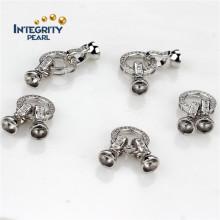 Accessoire bijoux Fermoir plaqué argent Belle pendentif Fermoir