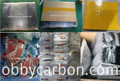 carbon fiber items and hardwares packing