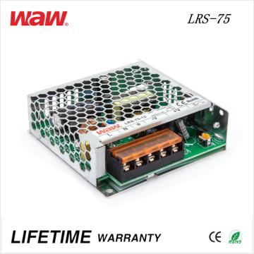 Motorista do diodo emissor de luz do anúncio de LRS-75 SMPS 75W 24V 3A